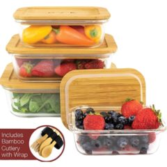 Eco Friendly Bamboo Food Storage Containers