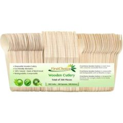 eco friendly Disposable Wooden Cutlery Set