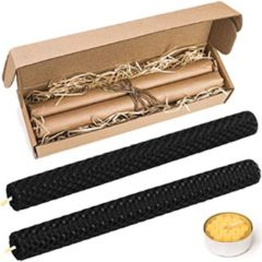 Natural Honey Comb Hand Rolled Beeswax Taper Candles